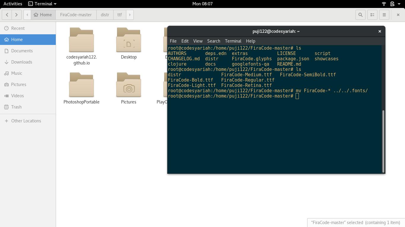 Install fonts di linux