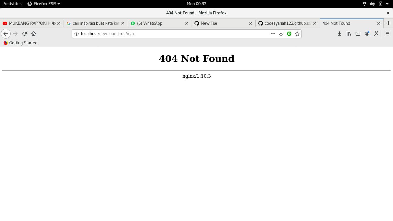 Error 404 nginx saat menggunakan codeigniter