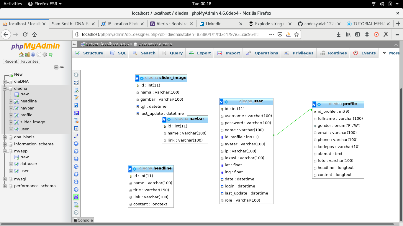 Menampilkan data dari relasi 2 table di php